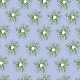 Vektorblumen verzieren auf einem blauen Hintergrund lizenzfreie abbildung