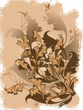 Vektorblumenhintergrund Lizenzfreie Stockbilder