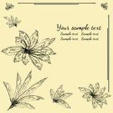 Vektorblumenhintergrund mit Blume Einladungs- und Grußkarte Stockfoto
