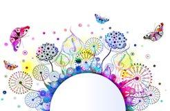 Vektorblumenhintergrund mit Blumen. ENV 10 Stockfoto