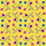 Vektorblumenhintergrund, Muster Stockbild