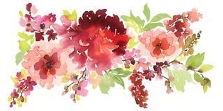 Vektorblumenillustration für Grußkarten Stockfotos