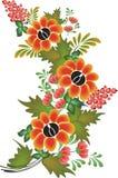 Vektorblumenmuster auf weißem Hintergrund Stockbild