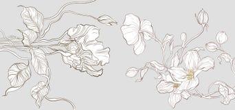 Vektorblumenstraußdesign Hochzeitsvektor laden Karte ein stock abbildung