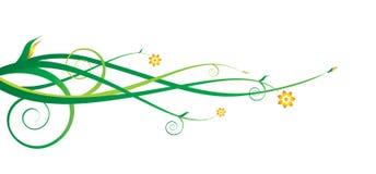 Vektorblumenverzierung Stockfotos