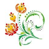 Vektorblumenvignette Stockbilder