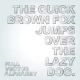 Vektorblyertspennan skissade alfabet Arkivfoton