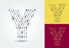 Vektorbokstav Y Isolerat och redigerbart tecken i stilen av stock illustrationer