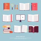 Vektorbokuppsättning stock illustrationer