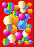 Vektorbollfärg Arkivfoto