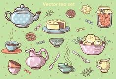 Vektorbonbons Cofee Set Bonbonsammlung Teeillustration vektor abbildung
