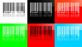 Vektor borcodes Stockfotos