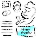 Vektorborsten för idérika illustrationer och modeller i klotter utformar, bohoen, zentagl Royaltyfri Fotografi