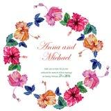Vektorbröllopkort med vattenfärgen Royaltyfri Fotografi