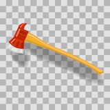 Vektorbrandman Axe Icon royaltyfri illustrationer