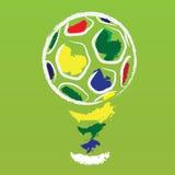 VektorBrasilien fotboll Arkivbilder