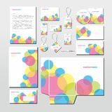 Vektorbrevpapper ställde in med färgrika cirklar Royaltyfria Bilder