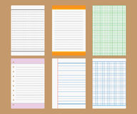 Vektorbriefpapierdesign Stockfotos