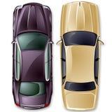 Vektorbriten-Autos. Stockbilder