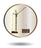 Vektorbrons- och elfenbensymbol med den höga detaljerade vektorn som hissar kranen på vit med skugga Royaltyfria Bilder