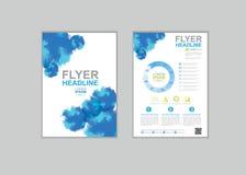 Vektorbroschüren-Fliegerdesign Lizenzfreies Stockbild
