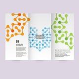 Vektorbroschüren mit abstrakten Zahlen Designmuster Lizenzfreies Stockfoto