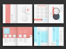 Vektorbroschürenplan-Designschablone Stockbild