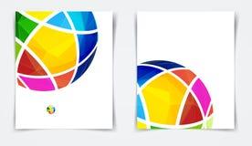 Vektorbroschyr eller designmallreklamblad design i formatet A4 Royaltyfri Fotografi