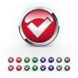 Vektorbunte Tasten für Web-Auslegung Lizenzfreie Stockfotos