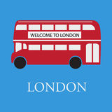 Vektorbuss london vektor illustrationer