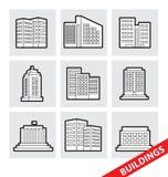 Vektorbyggnader Fotografering för Bildbyråer