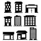 Vektorbyggnadskonturer Arkivbild
