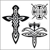 Vektorcelticuppsättning Keltisk abstrakt fnurenmodell Royaltyfria Bilder