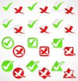 Vektorcheckmarkierungsaufkleber Lizenzfreies Stockfoto