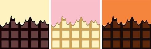 Vektorchokladbakgrunder stock illustrationer