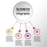 Vektorcirkel som är infographic med symboler Affären diagrams, presentationer och diagram vektor Royaltyfria Foton