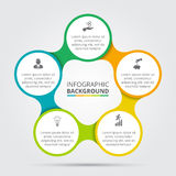 Vektorcirkelbeståndsdel för infographic Royaltyfria Foton