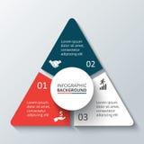 Vektorcirkelbeståndsdel för infographic Royaltyfri Bild