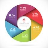 Vektorcirkelmall för affärsinfographics vektor illustrationer