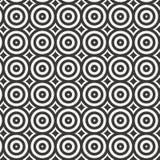 Vektorcirkelmodell som upprepar den linjära cirkeln med abstrakta stjärnor, geometrisk bakgrund stock illustrationer