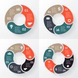 Vektorcirkelpilar för infographic Arkivfoto