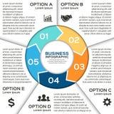 Vektorcirkelpilar för den infographic affären Arkivbild
