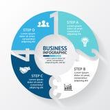 Vektorcirkelpilar numrerar infographic, diagrammet, grafen, presentationen, diagram Konjunkturbegrepp med alternativ vektor illustrationer