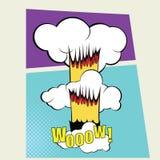 Vektorcomic-buch Seiten-Design-Schablone farbe lizenzfreie stockbilder