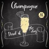 Vektord-clip Plakat Cocktail Champague für Restaurant und Café Hand gezeichnete Abbildung Vektor Abbildung