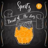 Vektord-clip Plakat Cocktail Spritz für Restaurant und Café Hand gezeichnete Abbildung Stock Abbildung