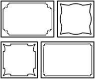 Vektordekorative Felder auf weißem Hintergrund Stockbilder
