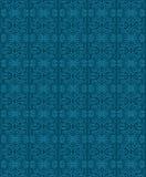 Vektordekoratives Blumenmuster-Beschaffenheitsblau Stockbild