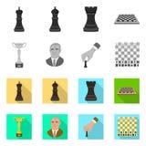 Vektordesign av den schackmatta och tunna symbolen St?ll in av schackmatt- och m?lmaterielsymbolet f?r reng?ringsduk vektor illustrationer