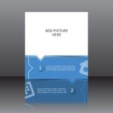 Vektordesign av det blåa reklambladwhitstället för bilder Royaltyfri Fotografi